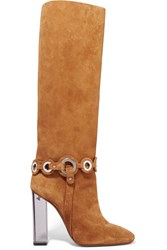 Emilio Pucci Embellished Suede Boots Brown