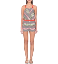 Missoni Grechina Knitted Playsuit Red Multi