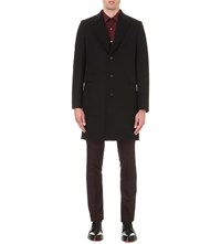 Paul Smith Single Breasted Wool Coat Black