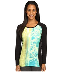 Hot Chillys Mtf Sublimated Print Scoop Neck Top Fizzy Black Women's T Shirt Multi