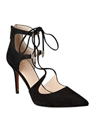 Marc Fisher Toni Suede Gladiator Pumps Black