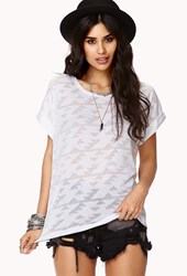 Forever 21 Tribal Inspired Burnout Tee