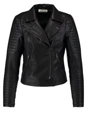 Noisy May Nmvalle Faux Leather Jacket Black