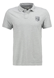Pier One Polo Shirt Light Grey Melange