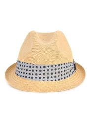 Gucci Silk Band Straw Trilby