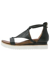 Mjus Spak Wedge Sandals Nero Black