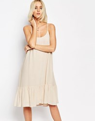 Gestuz Vea Drop Waist Strappy Dress Pink