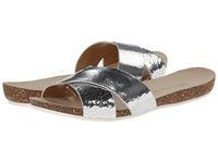 Enzo Angiolini Flyby Light Silver Leather Women's Slide Shoes