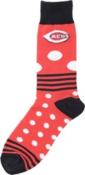 For Bare Feet Cincinnati Reds Dots And Stripes 538 Socks