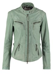 Oakwood Leather Jacket Pale Green