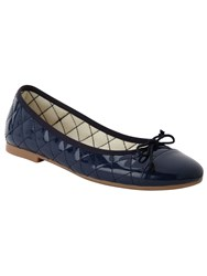 Phase Eight Quilted Ballerina Shoes Navy