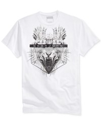 Sean John Men's Graphic Print T Shirt Bright Whi