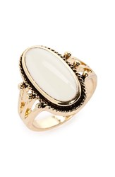 Women's Bp. Oval Stone Ring Ivory Gold