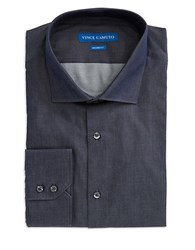 Vince Camuto Cotton Button Front Dress Shirt Denim