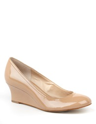 Arturo Chiang Arora Patent Leather Wedges Beige