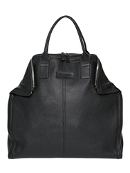 Alexander Mcqueen Large Demanta Leather Tote Bag Black