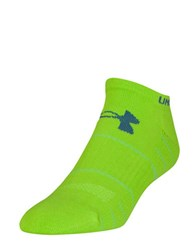 Under Armour Elevated Performance No Show Socks Lime Green