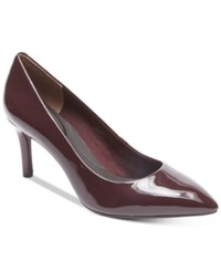Rockport Women's Total Motion Pointed Toe Pumps Women's Shoes Dark Vino Patent