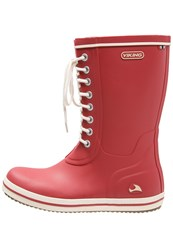 Viking Retro Light Wellies Tomato Red