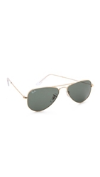 Ray Ban Shrunken Aviator Sunglasses Arista Crystal Green