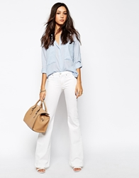 7 For All Mankind 70'S Flare Jeans White