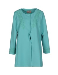 Darling Coats And Jackets Full Length Jackets Women Turquoise