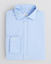 Armani Collezioni Pencil Stripe Dress Shirt Regular Fit French Blue