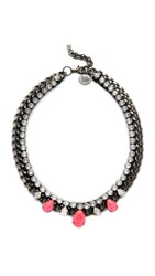 Venessa Arizaga Alesha Necklace Pink Black