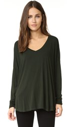 Feel The Piece Robin V Neck Top Pine