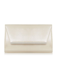 Untold Barkley Metallic Metal Detail Clutch Bag Nude