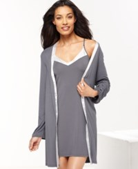 Calvin Klein Essentials Robe S2454 Charcoal