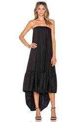 Hoss Intropia Strapless Hi Lo Gown Black