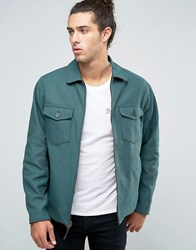 Brixton Cascade Reversible Harrington Jacket Green Red Check