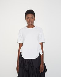 Simone Rocha Two Knot Short Tee White