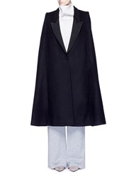 Stella Mccartney 'Becker' Wool Blend Melton Tuxedo Cape Coat Black