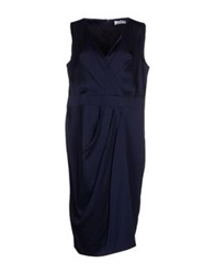 Carlo Pignatelli Knee Length Dresses Dark Blue