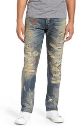 Prps Men's 'Demon' Destroyed Slim Straight Leg Jeans