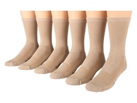 Fox River Wick Dry Crew Walker 6 Pair Pack Khaki Crew Cut Socks Shoes