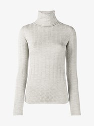 Creatures Of The Wind Virgin Wool Roll Neck Jumper Grey