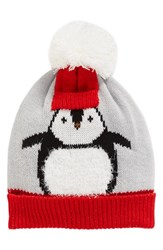 Collection Xiix Women's Chilly Penguin Pom Beanie Grey