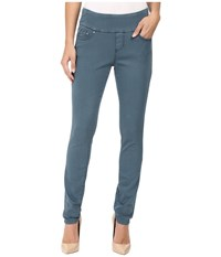 Jag Jeans Nora Pull On Skinny Freedom Colored Knit Denim In Opal Opal Women's Pewter