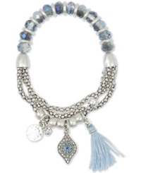Lonna And Lilly Silver Tone Glass Bead Stretch Bracelet No Color