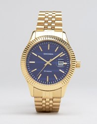 Sekonda Gold Bracelet Watch With Black Dialexclusive To Asos Gold