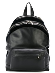Balmain Zip Detail Backpack Black
