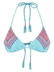 Accessorize Festival Contrast Triangle Bikini Top Multi Bright