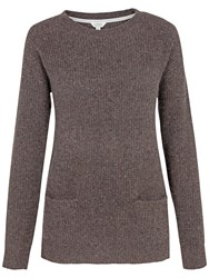 Fat Face Farringdon Cashmere Jumper Chocolate