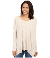 Culture Phit Calista Waffle Knit Oversized Top Oatmeal Women's Clothing Brown