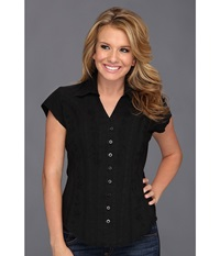 Scully Cantina Celia Cap Sleeve Top Black Women's Blouse