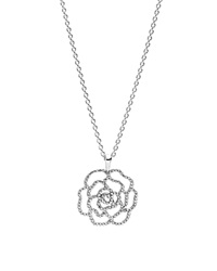 Pandora Design Pandora Necklace Sterling Silver And Cubic Zirconia Shimmering Rose Necklace 35.4