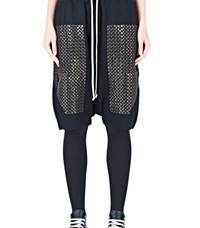 Rick Owens Embroidered Sequin Pod Shorts Black